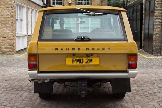 The rear of the vehicle