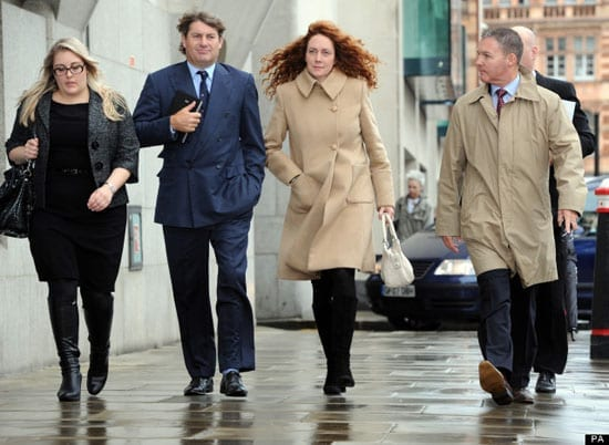 Rebekah Brooks and her husband Charlie are two of those on trial for alleged phone hacking