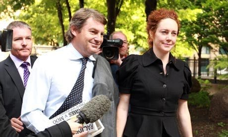 Charlie and Rebekah Brooks arrive at court this morning
