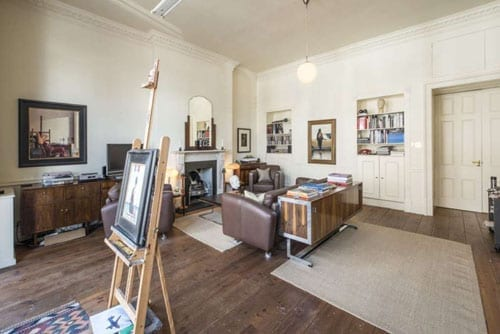 Reception room with Jack Vettriano's easel in situ