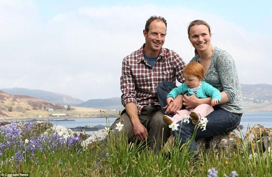 Richard and Lizzie Williams with their daughter Rosie are the current owners