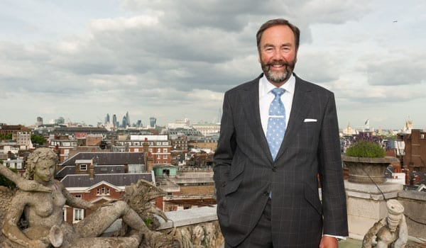 Robert Walton MBE on the rooftop of a penthouse suite at The Dorchester in London