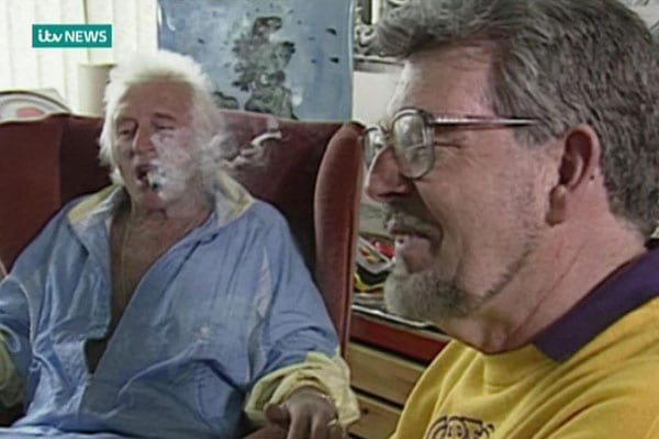 Rolf Harris with fellow sexual abuser Jimmy Savile