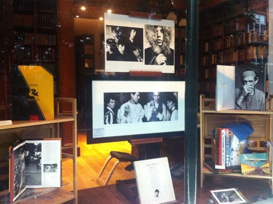 John Stoddart's triptych of the Rolling Stones taken for their 1989 'Steel Wheels' tour in the window of Peter Harrington