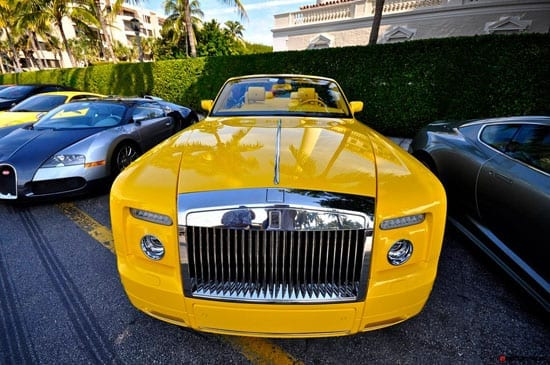 We have featured many cars in our pages in 2012. They have varied from unbelievably tacky stretched double-decker Hummers to classic Aston Martin shooting brakes. This yellow Phantom, however, takes the ultimate biscuit.