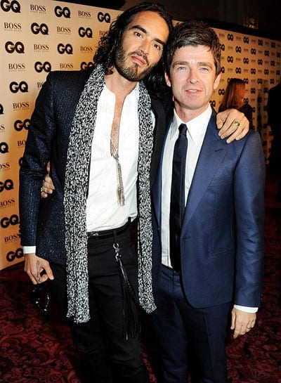 Russell Brand and Noel Gallagher were both winners at GQ's 2013 Men of the Year