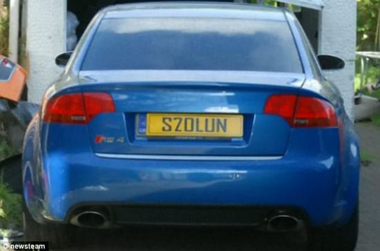 S7OLUN - Someone whose plate got them nicked