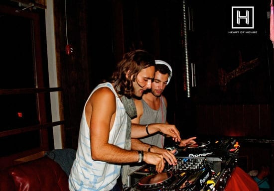 Samuel Whiting and Lucas Alexander on the decks