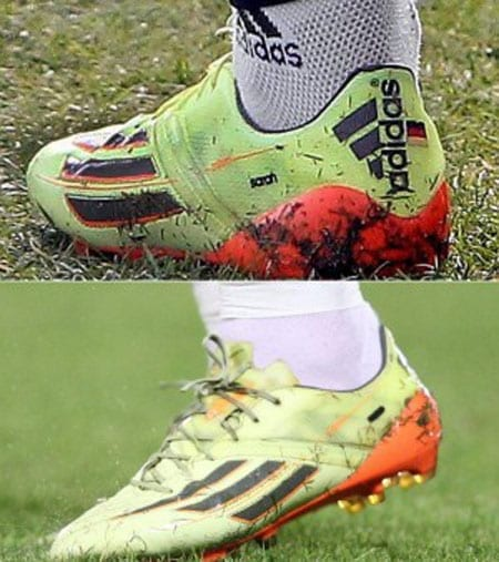Schweinsteiger marked the latest split with Brandner by crossing her name out on his boots