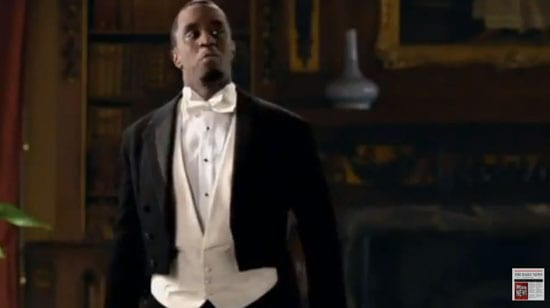 """P. Diddy in his """"Funny or Die"""" spoof of """"Downton Abbey"""""""