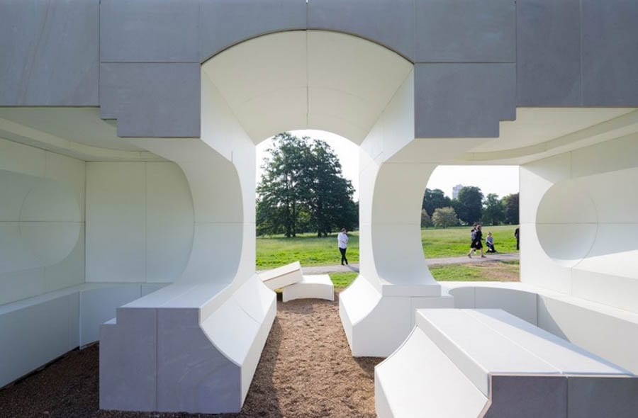 A Serpentine Summer House – Serpentine Galleries summerhouse originally installed in Kensington Gardens for sale – it'll cost you a bit more than what you might find down at B&Q – For sale through The Modern House for £95,000 ($116,000, €110,000 or درهم427,000) – Designed by Kunlé Adeyemi