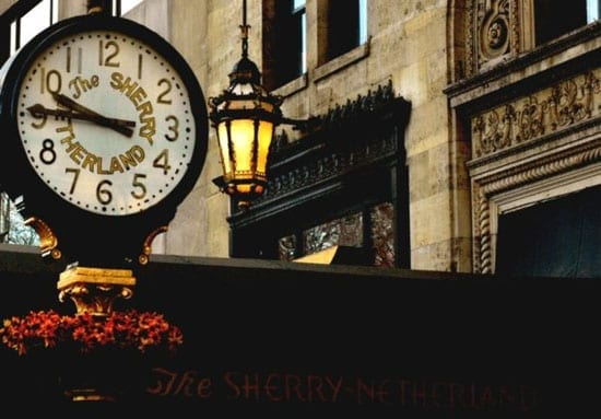 The Sherry-Netherland's iconic clock