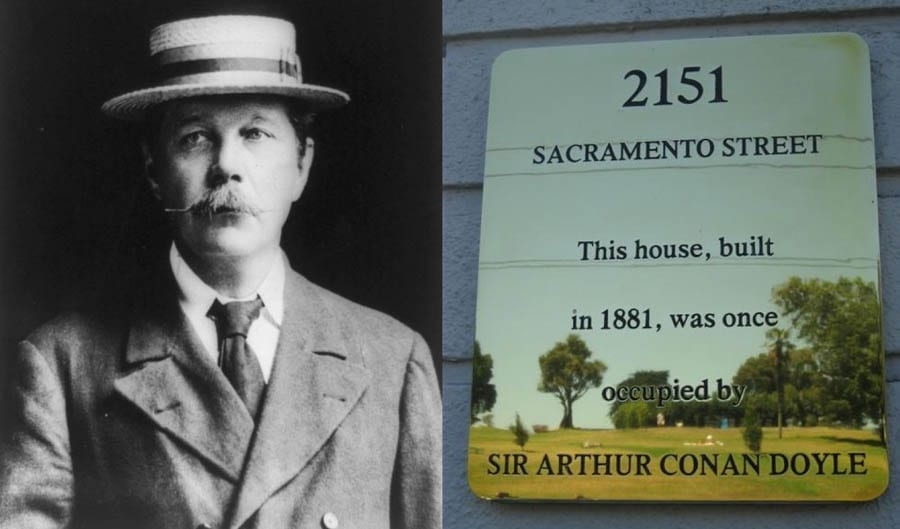 Sir Arthur Conan Doyle did NOT live here – #4, 2151 Sacramento St, San Francisco, CA 94109, USA – For sale through Joel Goodrich for £2.637 million ($3.698 million, €2.979 million or درهم13.581 million) – San Francisco condominium with a plaque that falsely claims Sir Arthur Conan Doyle lived there for sale for £2.6m; it was actually home to a whackjob doctor named Dr Albert Abrams who believed he could cure any disease