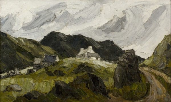 Sir Kyffin Williams' painting of the Llanberis Pass in Wales