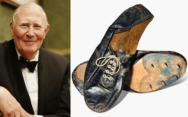 A light mile - Running shoes in which Sir Roger Bannister became the first man to run a sub four-minute mile to be sold for £30,000 to £50,000 in the Christie's 'Out of the Ordinary' sale