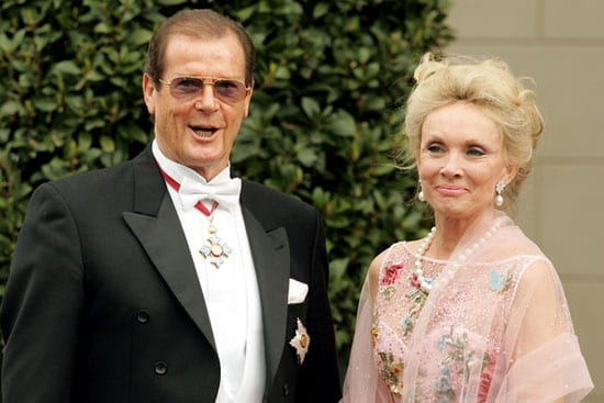 Sir Roger Moore and his wife Kiki Tholstrup