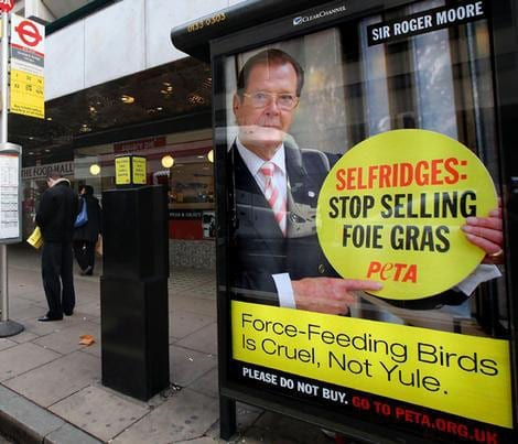 Sir Roger Moore has no right to tell people what to eat