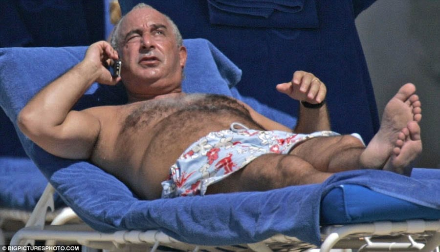 Shifty Coughs Up – 'Sir Shifty' Philip Green's payment of £363 million is not enough; this fat bully should also be stripped of his title