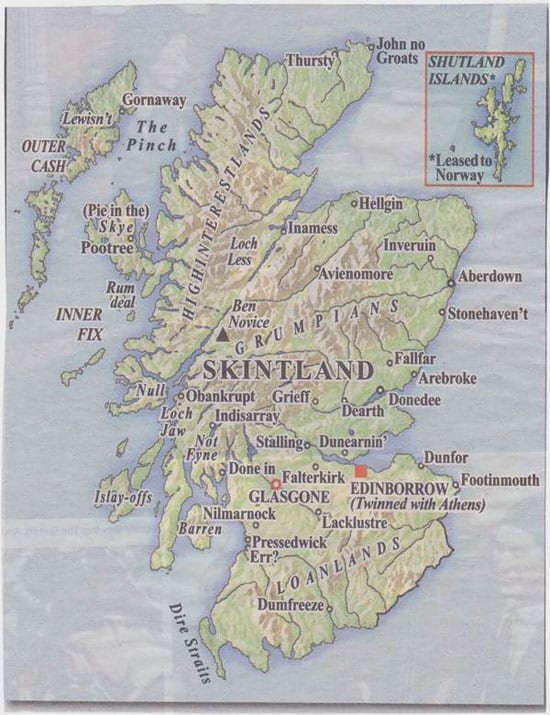 "An independent Scotland would indeed be ""Skintland"""