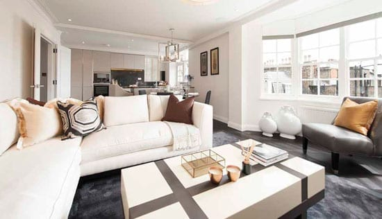 The South Audley Street apartment currently for sale through Wetherell