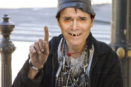 The spoof image of Cliff Richard is truly scary