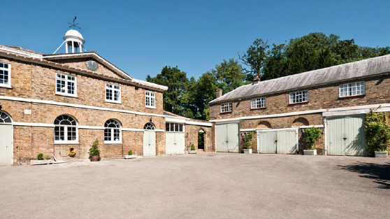 A coach house offers great potential for further accommodation