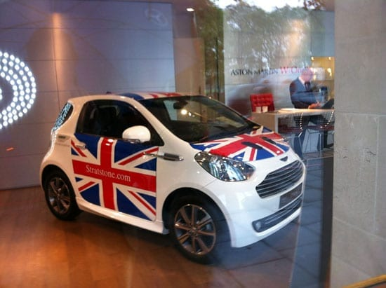 Stratstone on Park Lane thought that decorating a Cygnet with a British flag would help boost sales and were plainly proven wrong