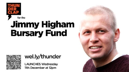Support the Jimmy Higham Bursary Fund