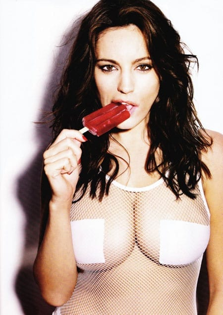 Taking the lolly: Kelly Brook