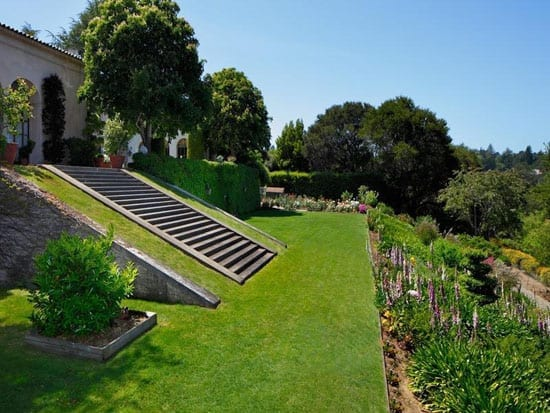 Terraced gardens and 47.5 acres of land surround Guigné Court