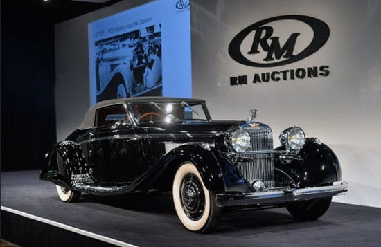 The 1935 Hispano-Suiza achieved $2,255,000 at auction this weekend