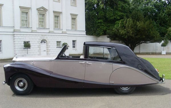 The 1953 Rolls Royce Silver Wraith Sedanca de Ville that Nubar Gulbenkian commissioned is certainly striking in terms of its appearance