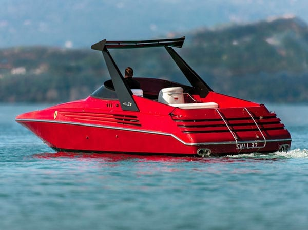 A red Riva – 1990 Ferrari Riva boat for auction – RM Sotheby's, Monaco, 14th May 2016