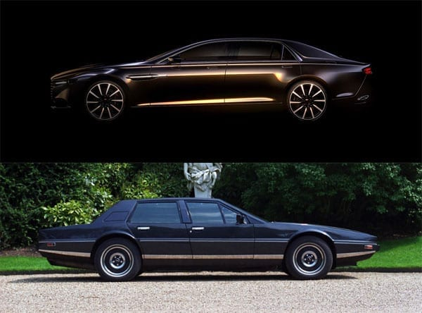 The 2014 Aston Martin Lagonda 'super sedan' has echoes of the 1976 William Towns designed car to it