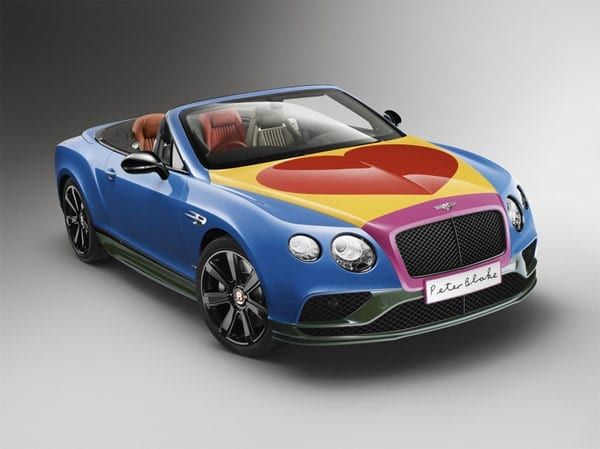 Blake's Bentley – 2016 Bentley Continental GT V8 S convertible designed by Sir Peter Blake to be auctioned by Bonhams on 24th June 2016 at their Goodwood Festival of Speed sale
