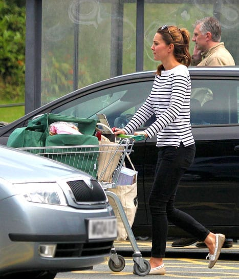 The Duchess of Cambridge shops at Waitrose on Anglesey