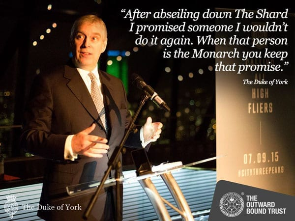The Duke of York on promises