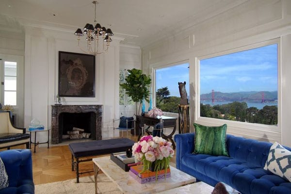 The couple have been able to entertain with a spectacular backdrop at 2900 Vallejo Street