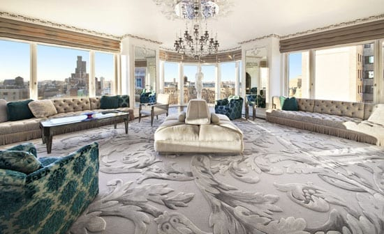 The Great Room's carpet is far from neutral