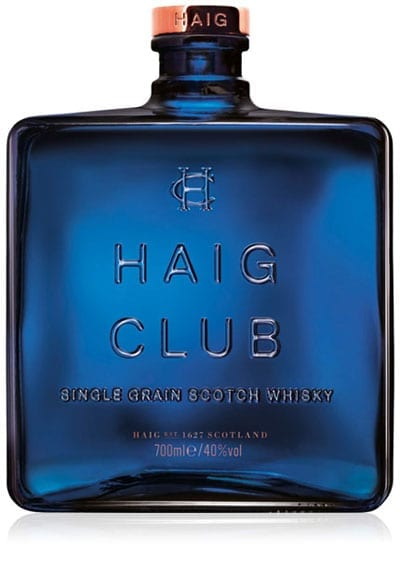 The Haig Club bottle has the look of an aftershave bottle