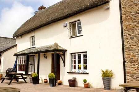 The traditional exterior of The New Inn, Roborough, Near Winkleigh, Devon, EX19 8SY