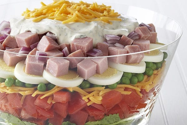 The 'Seven Layer Salad' did not prove popular with Claire Douglass