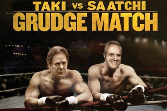 'The Spectator' is very much behind the idea of a fight between Saatchi and Taki