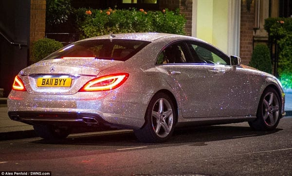 The Swarovski crystal covered Mercedes-Benz certainly sparkles