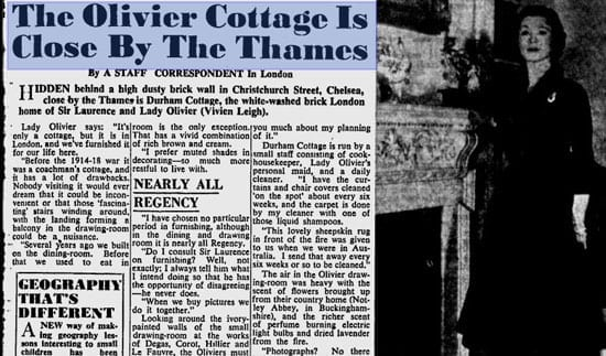"""The Sydney Morning Herald"" featured Durham Cottage on the 25th February 1954"