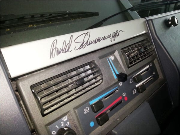 The actor has signed the dashboard of the car but does this justify him asking more than he paid for it?