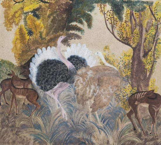 The artist was well known for scenes featuring animals