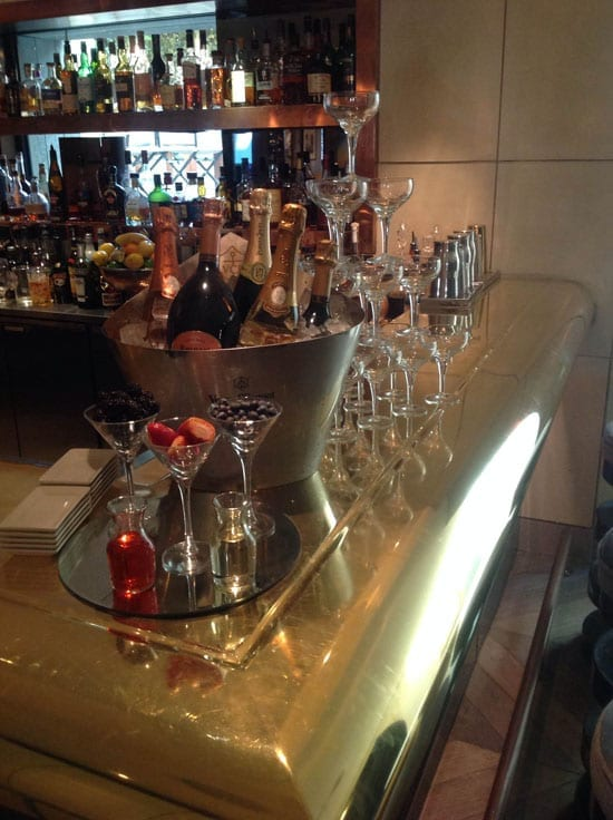 The bar at the Belgraves is a champagne lovers' delight
