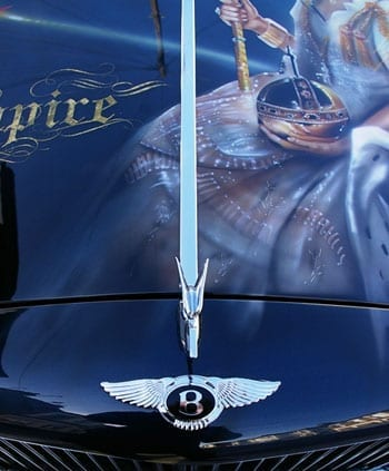 The bonnet of the Bentley is all about Empire