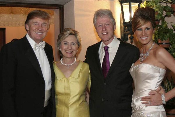 The business of marriage - Donald Trump, Hillary Clinton, President Bill Clinton and Melania Knauss-Trump